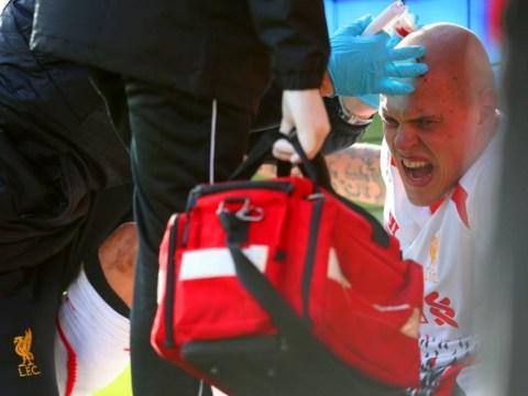 Martin Skrtel's head gets stapled back together at Bournemouth – video