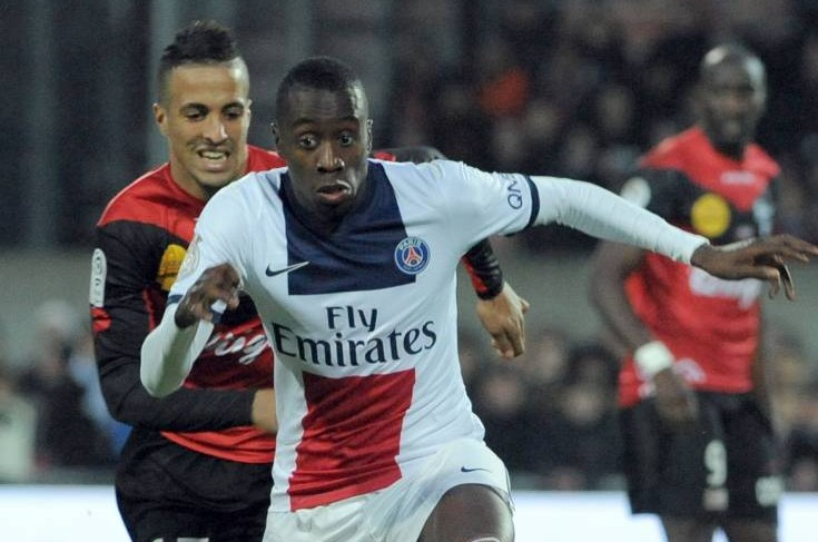 Guingamp's French forward Rachid Alioui (L) vies for the ball with Paris Saint-Germain's French midfielder Blaise Matuidi during the French L1 football match between Guingamp and Paris Saint-Germain (PSG) on January 25, 2014 at the Roudourou stadium in Guingamp, western France.  AFP PHOTO / FRED TANNEAUFRED TANNEAU/AFP/Getty Images