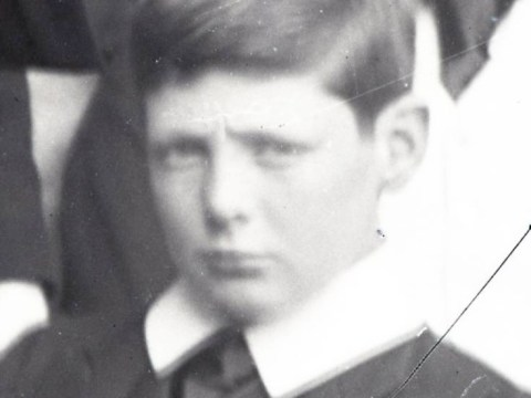 Revealed: Young Winston Churchill… the scowling schoolboy