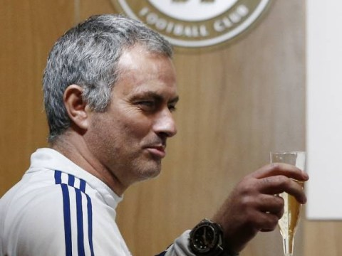 Jose Mourinho greets journalists with birthday champagne – but promises it will be the last of the season
