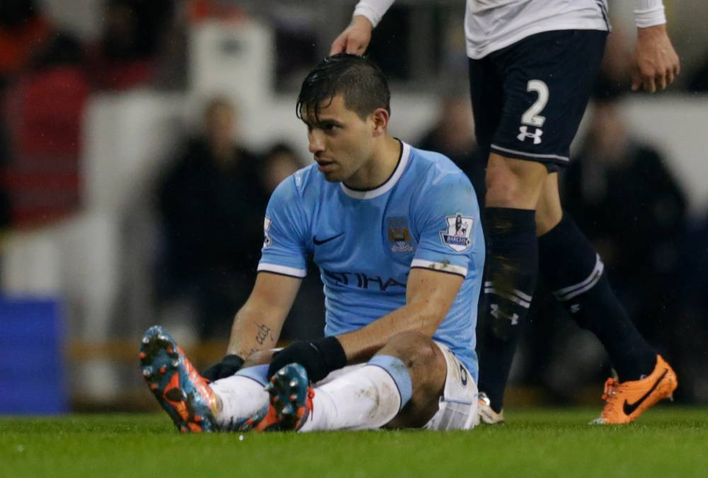Sergio Aguero injury takes gloss off victory for rampant Manchester City