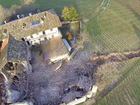 Huge boulders crash into 300-year-old barn causing millions of pounds worth of damage