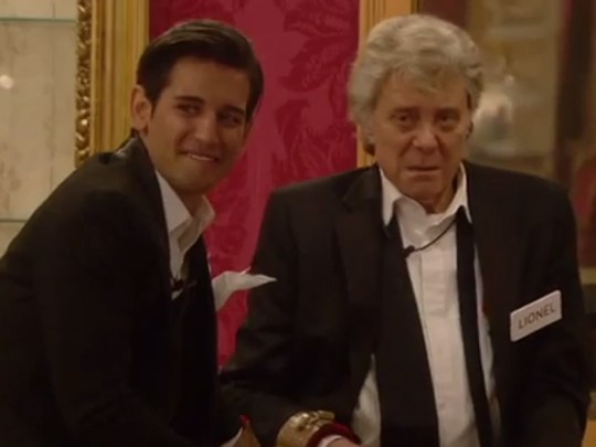 Ollie Locke and Lionel Blair on Celebrity Big Brother 2014