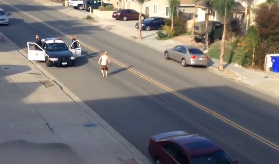Video: Real-life GTA V ends with man getting hit by a car and arrested