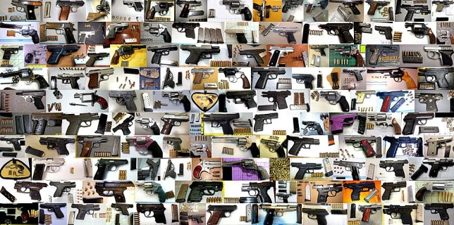 Some of the items seized by TSA officers from airline passengers at airports all over the United States