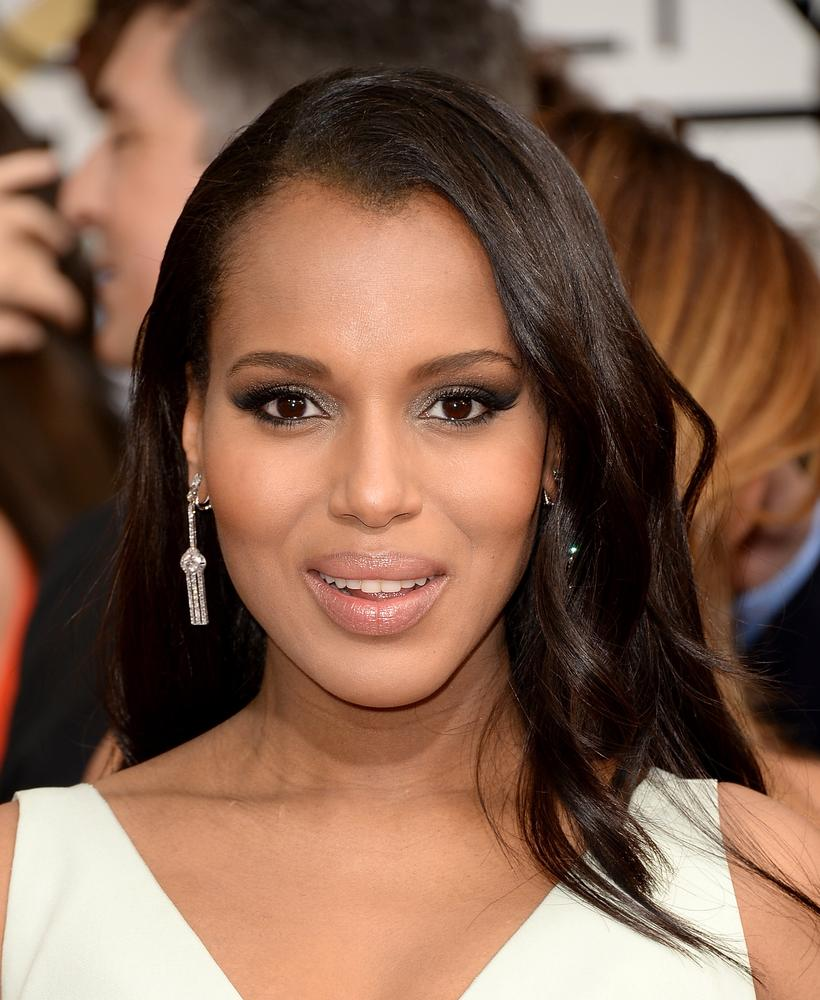 Kerry Washington at the Golden Globes 2014 (Picture: Getty)
