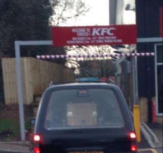Hearse carrying coffin 'tries to visit KFC drive-through, gives up and goes to Starbucks'