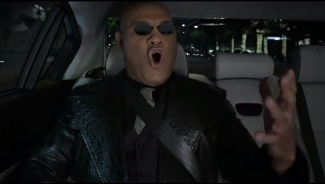 Watch Morpheus from the Matrix try to sell a luxury car using the power of opera