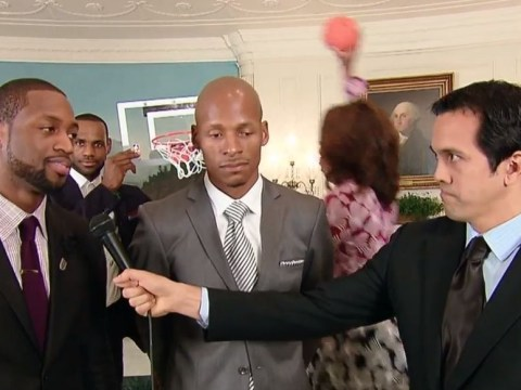 What a First Lady! Michelle Obama video bombs NBA players with White House slam dunk