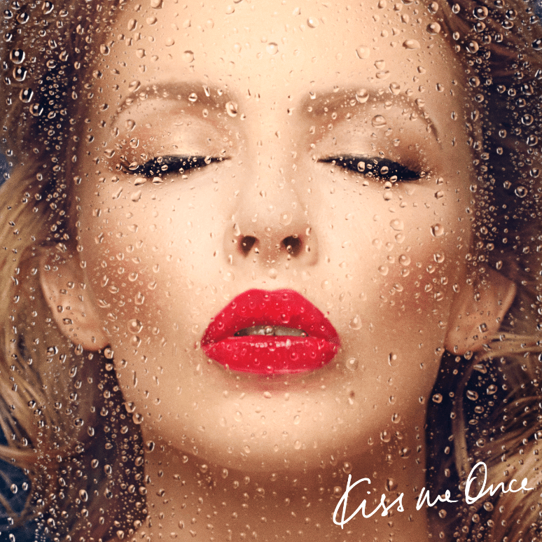 Kylie Minogue has unveiled her new album cover Kiss Me Once (Picture: Parlophone)