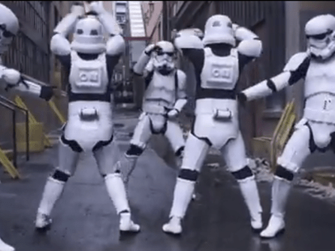Star Wars' Darth Vader doesn't approve of Stormtroopers twerking