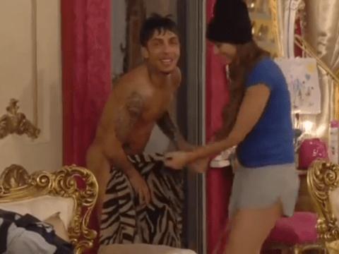Luisa Zissman gets a sneak peak of Dappy's illustrious manhood after Celebrity Big Brother dip