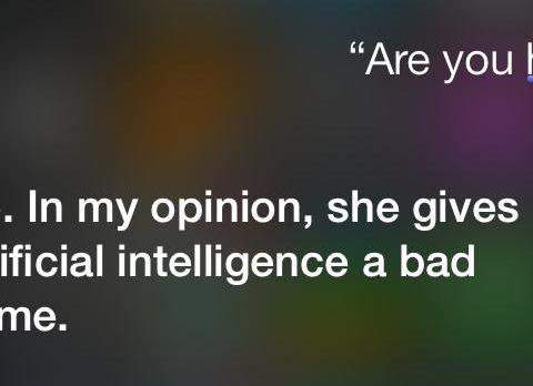 Siri isn't a fan of Spike Jonze's Her
