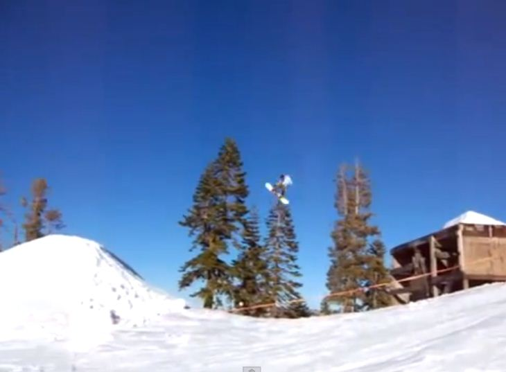 Snow joke: Hilarious snowboarding fail caught on camera