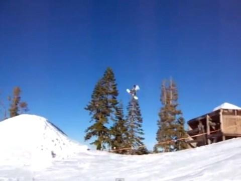 Snow joke: Hilarious snowboarding fail caught on camera