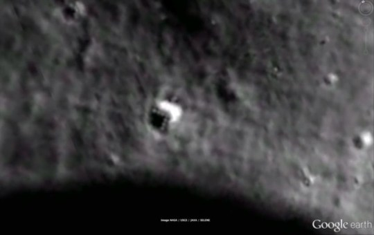 Is this an alien spacecraft on the moon/ (Picture:YouTube/wowforreeel)