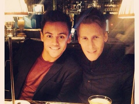 Tom Daley and Dustin Lance Black finally confirm they are dating during romantic celebratory meal after first episode of Splash!