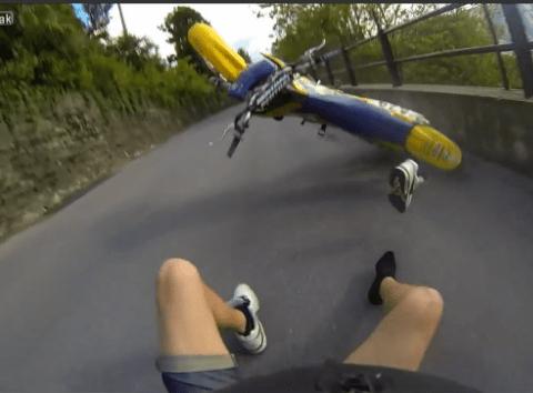 Motorcyclist shows why bike stunts are a wheelie bad idea…