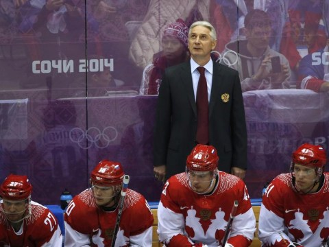 Sochi 2014 Winter Olympics: Eat me alive! Russian ice hockey coach takes defeat badly