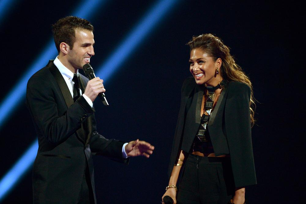 Cesc Fabregas says sorry to Manchester City fans – while presenting a Brit Award