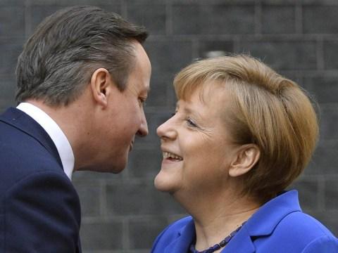 Even Churchill's grandson was falling over himself to praise Germany's Angela Merkel