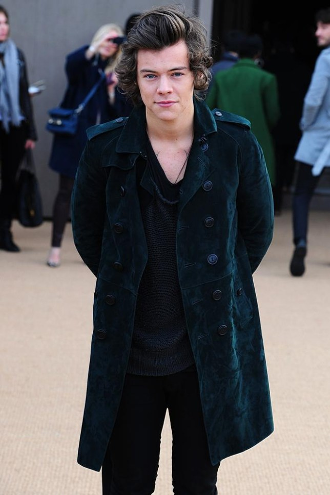 Guess who's here? As expected, Harry Styles sat front row at the Burberry AW14 show (Picture: PA)