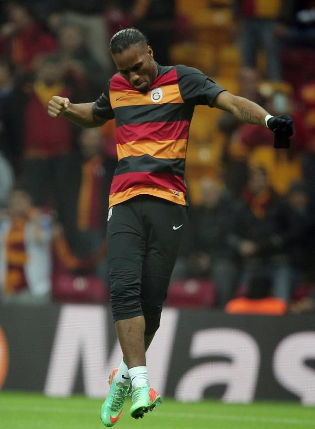 Didier Drogba of Galatasaray plays against his former side Chelsea during UEFA Champions League Round of 16, First Leg match between Galatasaray and Chelsea at Turk Telekom Arena Stadium in Istanbul, Turkey, Wednesday, Feb. 26, 2014. (AP Photo) AP Photo