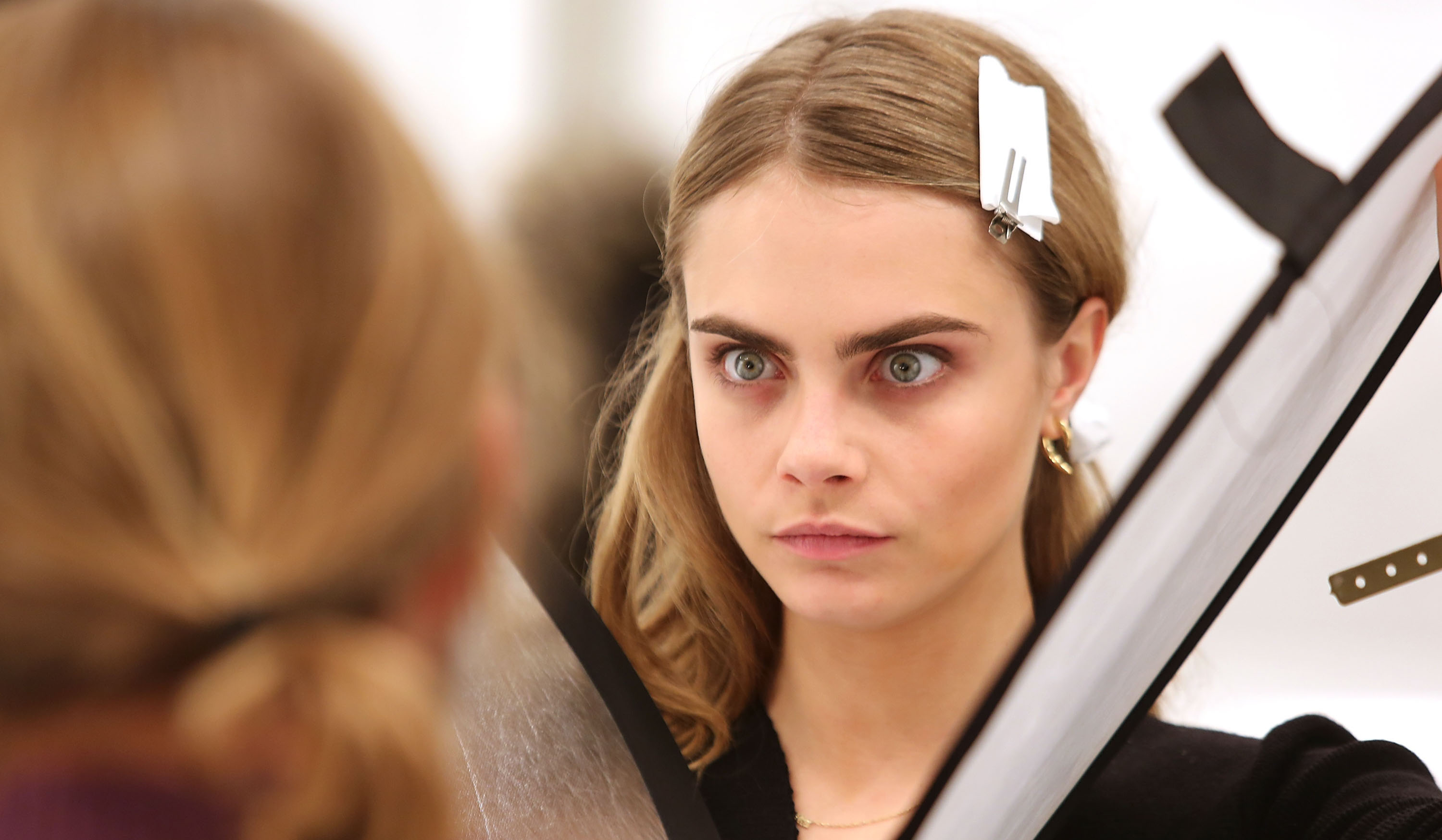 Gallery: Cara Delevingne and Harry Styles at Burberry Prorsum's London Fashion Week AW14 show