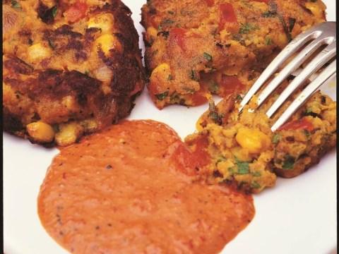 How to cook East African wilderness sweet potato patties with piri-piri sauce