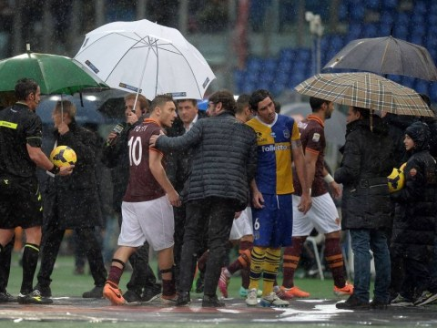 Wash-out: Roma and Parma see Serie A clash called off due to waterlogged pitch