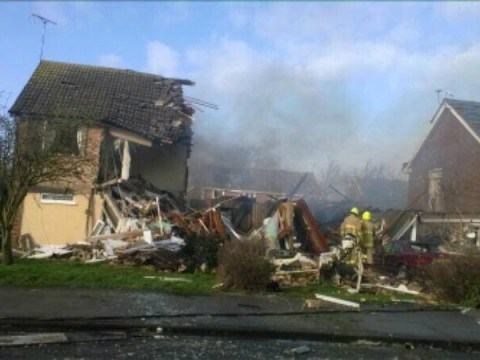 Ten injured in Clacton-on-sea as explosion 'flattens two houses and damages a third'
