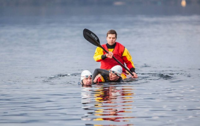 Davina McCall, Sport Relief, Windermere, Lake District,  Scafell Pike, Edinburgh