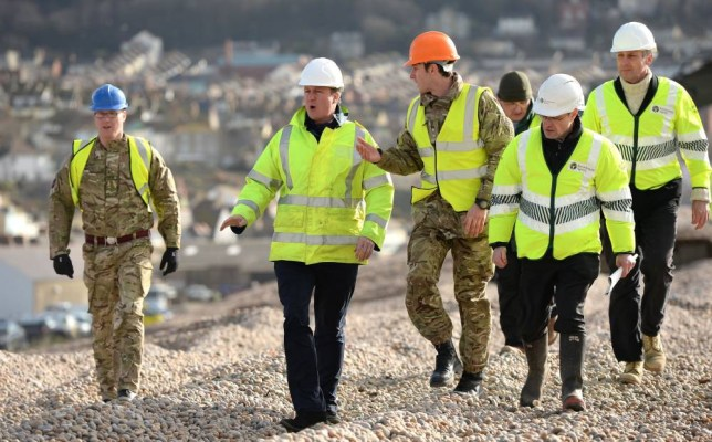 Prime Minister David Cameron made the comments while inspecting storm damage work being carried out on Chesil beach between Portland and Weymouth in Dorset