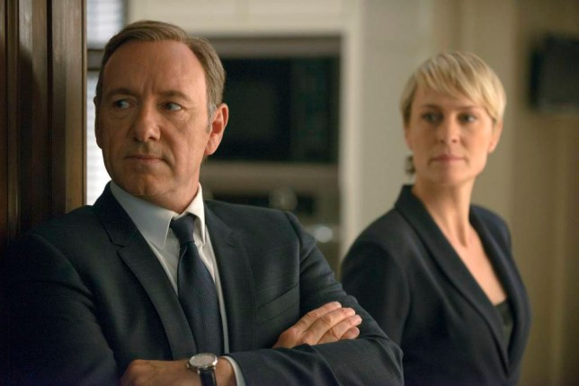 Kevin Spacey as Francis Underwood and Robin Wright as Claire Underwood - House of Cards (Picture: AP/Netflix)