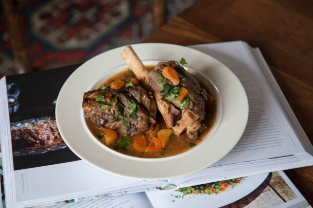 Lamb shanks are best cooked over several hours until the meat falls seductively from the bone (Picture: Oli Jones)