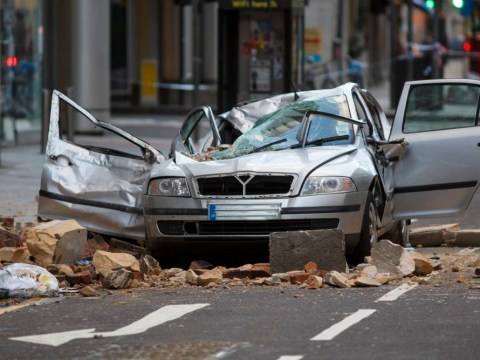 Woman crushed to death after building collapses on to her car in Holborn