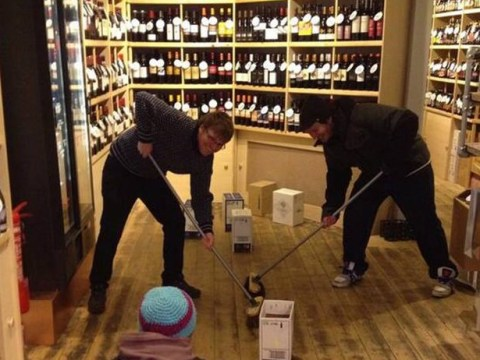 Sochi 2014 Winter Olympics: Curling is catching on – even in a Manchester off-licence!