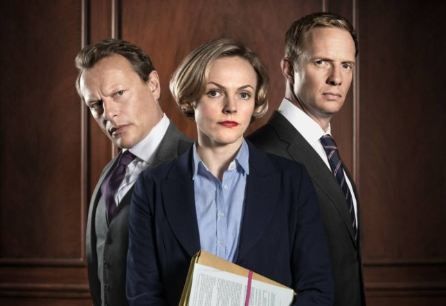 Neil Stuke, Maxine Peake and Rupert Penry-Jones are back in Silk (Picture: BBC/Hal Shinnie)
