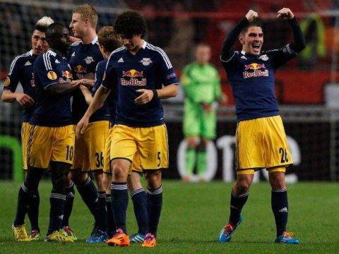 Jonathan Soriano does a David Beckham by scoring from halfway line for Red Bull Salzburg in Europa League tie with Ajax