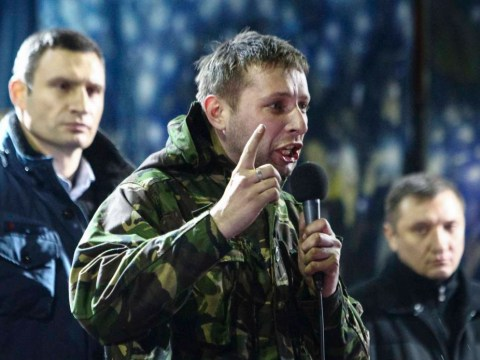 Did this young man give the speech that started the Ukrainian revolution?