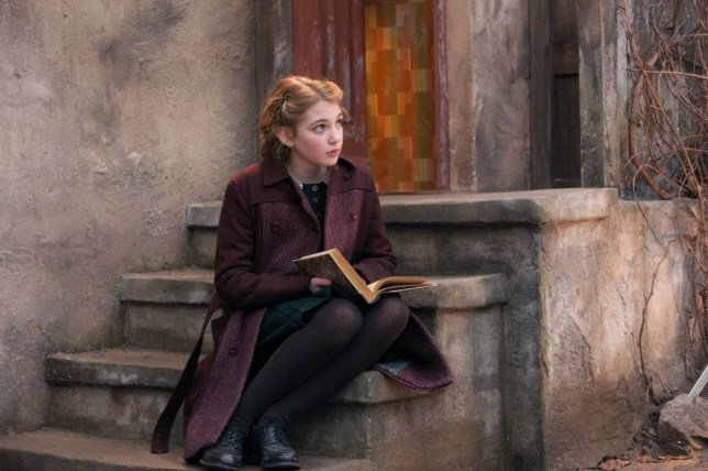 Ringletted Liesel (Sophie Nélisse) is strangely undaunted by the Nazis in The Book Thief (Picture: 20th Century Fox)