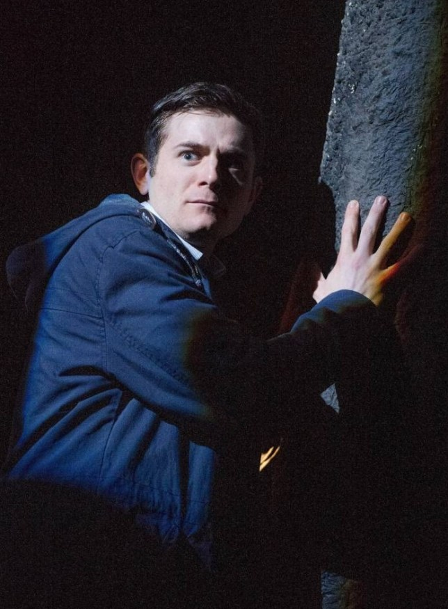 Chris Levens as Simon in Ghost Stories (Picture: Alastair Muir)