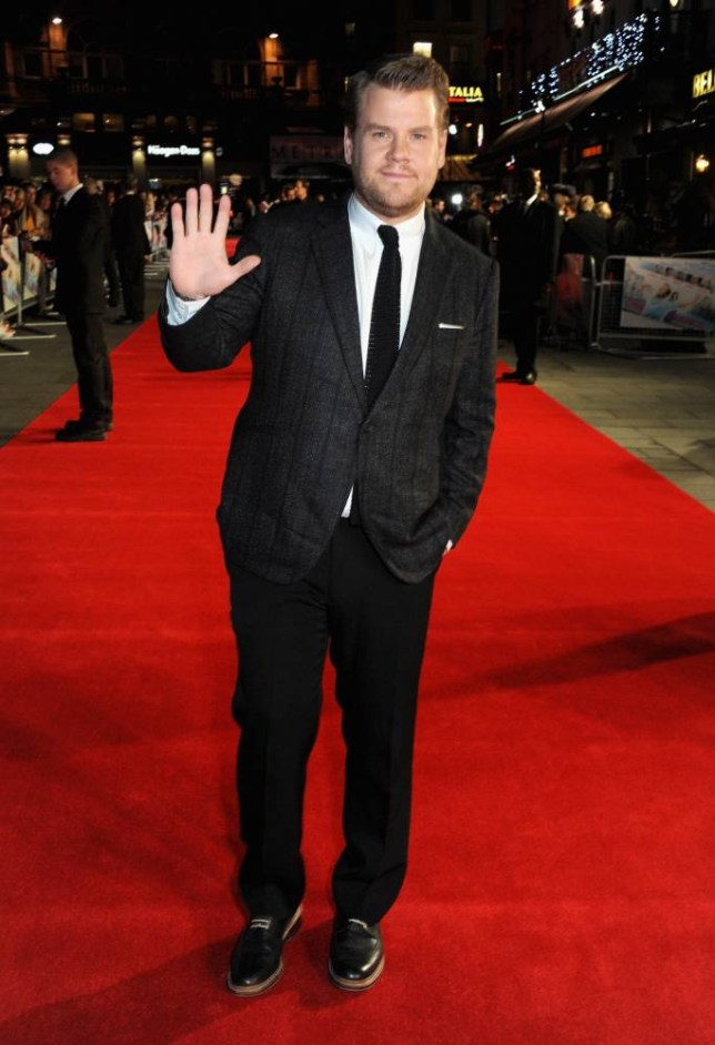 """Actor James Corden attends the """"One Chance"""" European premiere at the Odeon Leicester Square in London, England on October 17, 2013.    LONDON, ENGLAND - OCTOBER 17:   (Photo by David M. Benett/WireImage)"""