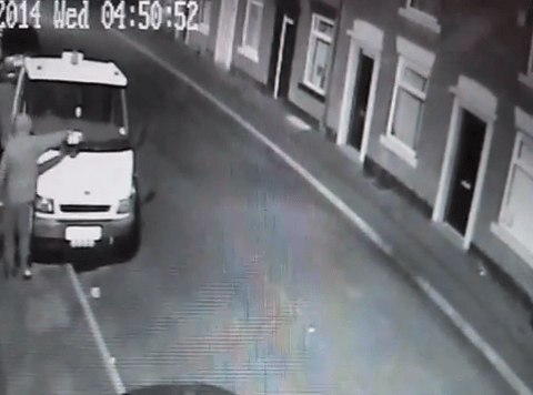 Hats off to karma: Man sets himself on fire as attempted arson attack backfires