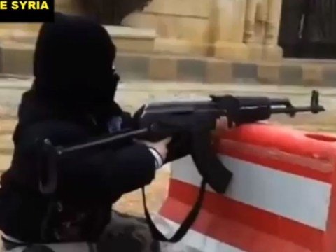 Video: Boy, 4, fires automatic assault weapon in Syria before warning 'infidels are going to be slaughtered'
