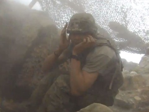 Video: Shocking moment 500lb bomb is dropped on US soldiers by mistake