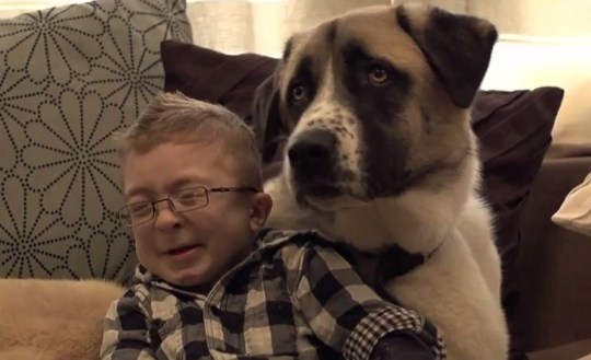A Boy and His Dog documentary: Schwartz-Jampel syndrome sufferer Owen Howkins' amazing bond with pet