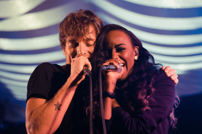 Paolo Nutini was joined by US rapper Angel Haze for a song called Fashion (Picture: Dan Massie)