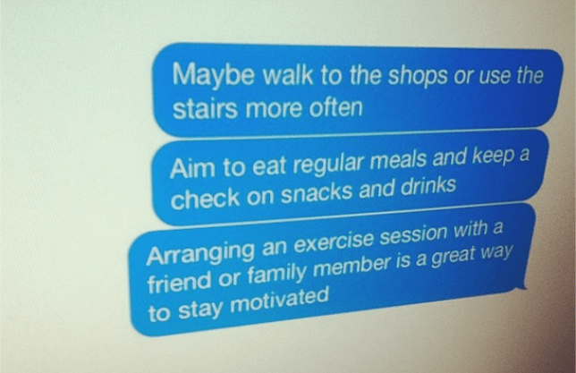 Stoke-on-Trent council is starting a 10-week text campaign to fight obesity and promote a healthier lifestyle