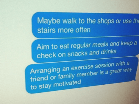 Council to send 'stop snacking' texts to obese residents